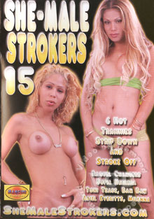 She-Male Strokers 15 Box Cover