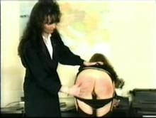 English Spanking Classic #24 - Big Bottoms Girls Caned Clip 1 00:12:20