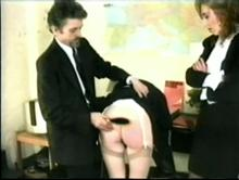 English Spanking Classic #24 - Big Bottoms Girls Caned Clip 2 00:37:00