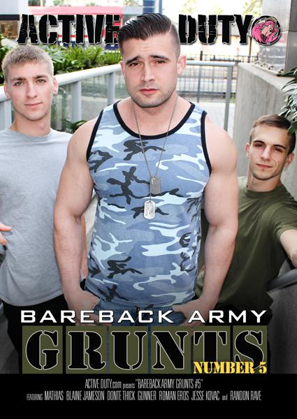 Bareback Army Grunts 5 Box Cover - Login to see Back