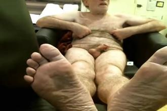 Coach Karl Socks, Bare Feet, and Jack Off in His Favorite New Chair Clip 1 00:13:40